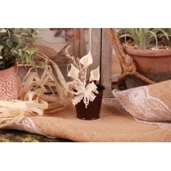 Arôme sur seau marron - Boîtes à dragées - Dragées Braquier
