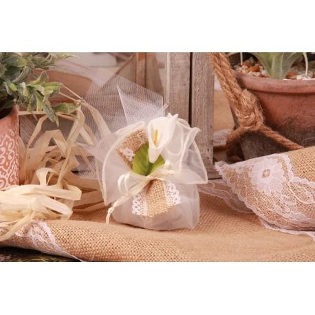Arôme sur tulle écru - Boîtes à dragées - Dragées Braquier