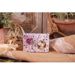 Boîte Liberty lilas GM - Boîtes à dragées - Dragées Braquier