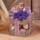 Fleur mauve sur duo gris - Boîtes à dragées - Dragées Braquier