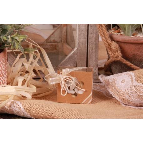 Boîte havana fleur cannelle - Boîtes à dragées - Dragées Braquier