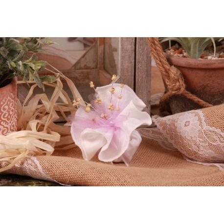 Piquet perle sur tulle dentelle - Boîtes à dragées - Dragées Braquier