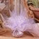 Tulle dentelle blanc et lilas - Boîtes à dragées - Dragées Braquier