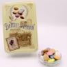 """Chocolate Disc, """"Love and Sweets"""" metal-box 400 g - Dragées Braquier, confiseur chocolatier à Verdun"""