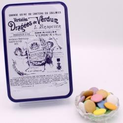 "Chocolate Disc, ""Braquier Certified"" metal-box 400 g - Dragées Braquier, confiseur chocolatier à Verdun"