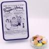 """Disque Chocolat, Boîte métal """"Certifiées Braquier"""" 400 g - Dragées Braquier, confiseur chocolatier à Verdun"""