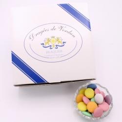 Chocolate Disc, Cardboard-box 1 kg - Dragées Braquier, confiseur chocolatier à Verdun