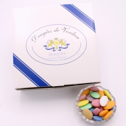 Chocolate Dragee, Cardboard-box 1 kg - Dragées Braquier, confiseur chocolatier à Verdun