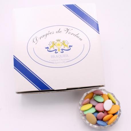Dragée Chocolat, Boîte de 1 kg - Dragées Braquier, confiseur chocolatier à Verdun
