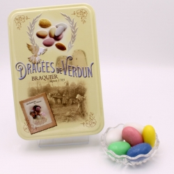 """Giant Dragee, """"Love and Sweets"""" metal-box 400 g - Dragées Braquier, confiseur chocolatier à Verdun"""
