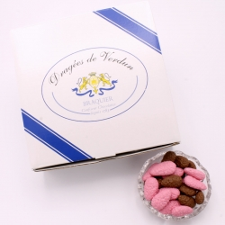 Praline Surfine, Cardboard-box 1 kg - Dragées Braquier, confiseur chocolatier à Verdun