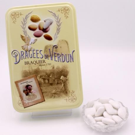 """Carre Nougatine, """"Love and Sweets"""" metal-box 400 g - Dragées Braquier, confiseur chocolatier à Verdun"""