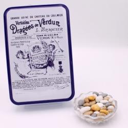 """Caillou Lorrain, """"Braquier Certified"""" metal-box 400 g - Dragées Braquier, confiseur chocolatier à Verdun"""