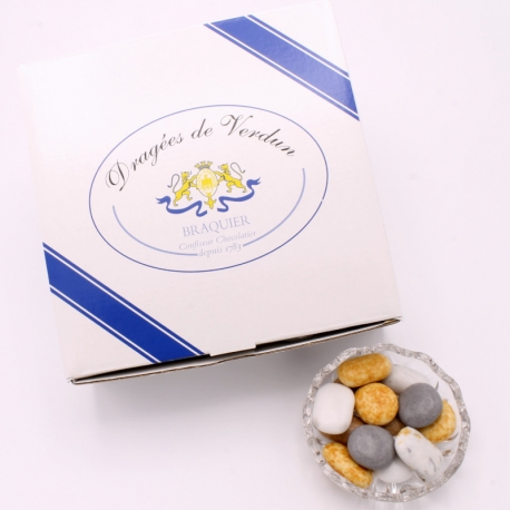 Galet du Lac, Cardboard-box 1 kg - Dragées Braquier, confiseur chocolatier à Verdun