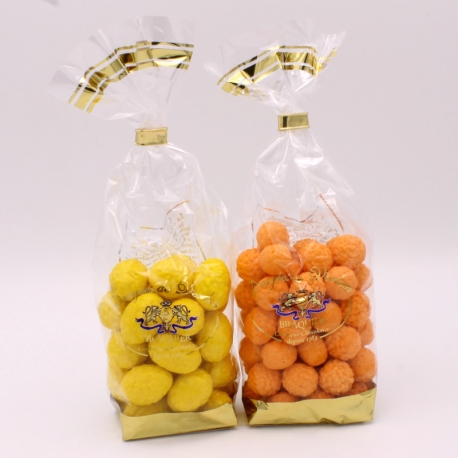 Orange et Citron, Sachet de 500 g - Dragées Braquier, confiseur chocolatier à Verdun