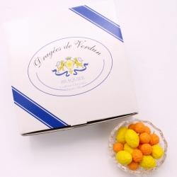 Orange et Citron, Cardboard-box 1 kg - Dragées Braquier, confiseur chocolatier à Verdun