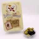 """Olives, Boîte métal """"Amour et Gourmandises"""" 400 g"""