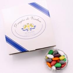 Choc'Amande, Cardboard-box 1 kg - Dragées Braquier, confiseur chocolatier à Verdun