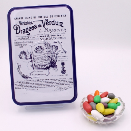 "Choc'Amande, ""Braquier Certified"" metal-box 400 g - Dragées Braquier, confiseur chocolatier à Verdun"