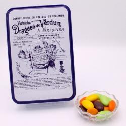"""Pâte de fruits, Boîte métal """"Certifiées Braquier"""" 400 g - Dragées Braquier, confiseur chocolatier à Verdun"""