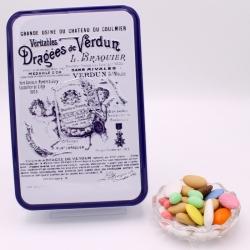 "Premium, ""Braquier Certified"" metal-box 400 g - Dragées Braquier, confiseur chocolatier à Verdun"