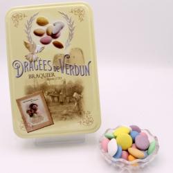 """Royal Dégustation, Boîte métal """"Amour et Gourmandises"""" 400 g - Dragées Braquier, confiseur chocolatier à Verdun"""