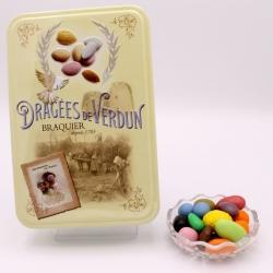 """Magnum, Boîte métal """"Amour et Gourmandises"""" 400 g - Dragées Braquier, confiseur chocolatier à Verdun"""