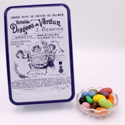 """Magnum, Boîte métal """"Certifiées Braquier"""" 400 g - Dragées Braquier, confiseur chocolatier à Verdun"""