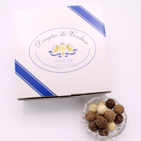 Noix de Coco, Boîte de 1 kg - Dragées Braquier, confiseur chocolatier à Verdun