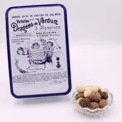 """Léon Braquier Coconut, """"Braquier Certified"""" metal-box 400 g - Dragées Braquier, confiseur chocolatier à Verdun"""