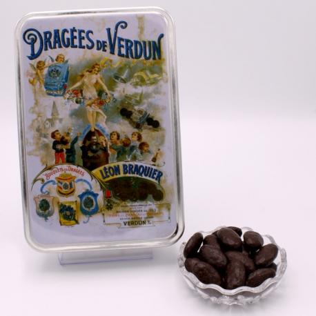"Braquine, ""Braquier Poster"" metal-box 400 g - Dragées Braquier, confiseur chocolatier à Verdun"