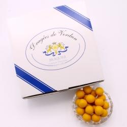 Perle mirabelle, Boîte de 1 kg - Dragées Braquier, confiseur chocolatier à Verdun