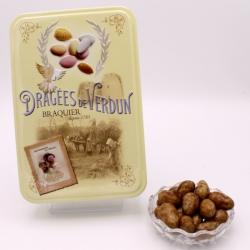 """Léontine 3 chocolats, Boîte métal """"Amour et gourmandise"""" 400 g - Dragées Braquier, confiseur chocolatier à Verdun"""