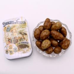 """Léontine 3 chocolats, mini-Boîte metal """"Affiche"""" 50 g - Dragées Braquier, confiseur chocolatier à Verdun"""