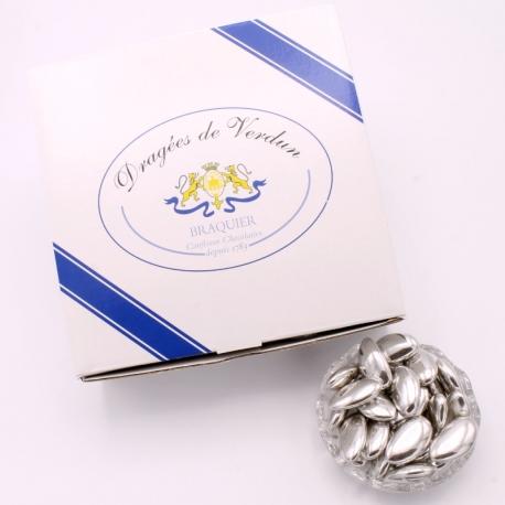 Fine Argent, Cardboard-box 1 kg - Dragées Braquier, confiseur chocolatier à Verdun