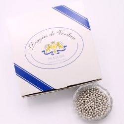 Perles argent, Boîte de 1 kg - Dragées Braquier, confiseur chocolatier à Verdun