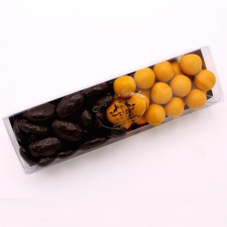 Réglette n°20 - Braquine et Perle Mirabelle - Dragées Braquier, confiseur chocolatier à Verdun