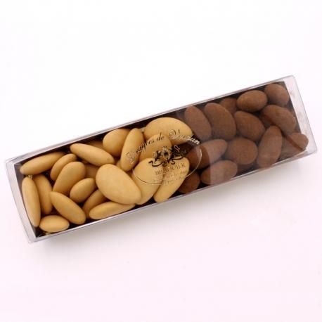 Réglette n°14 - Léon Braquier torréfiée et Léontine cacao lait - Dragées Braquier, confiseur chocolatier à Verdun