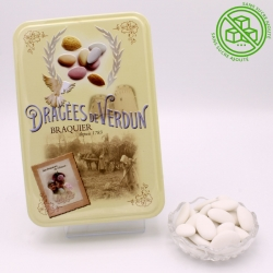 "Duchesse without added sugar, ""Love and Sweets"" metal-box 400 g - Dragées Braquier, confiseur chocolatier à Verdun"