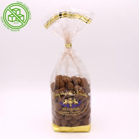 Léontine cacao noir sans sucre, Sachet de 500 g - Dragées Braquier, confiseur chocolatier à Verdun