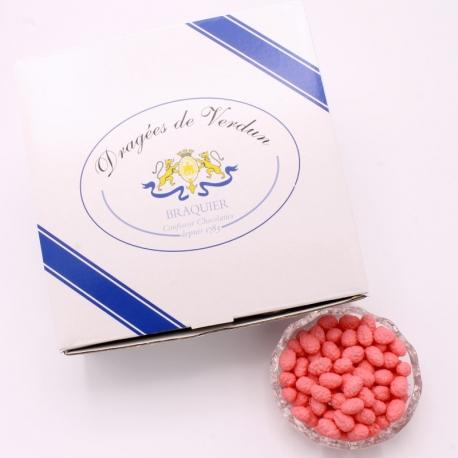 Fraise des Bois, 1 kg Cardboard-box - Dragées Braquier, confiseur chocolatier à Verdun