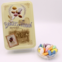 "Duchesse, ""Love and Sweets"" metal-box 400 g - Dragées Braquier, confiseur chocolatier à Verdun"