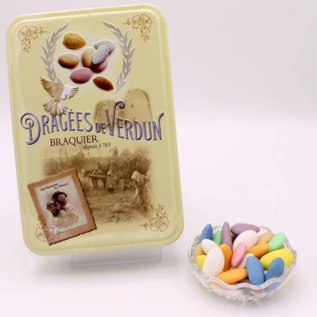 """Princesse, """"Love and Sweets"""" metal-box 400 g - Dragées Braquier, confiseur chocolatier à Verdun"""