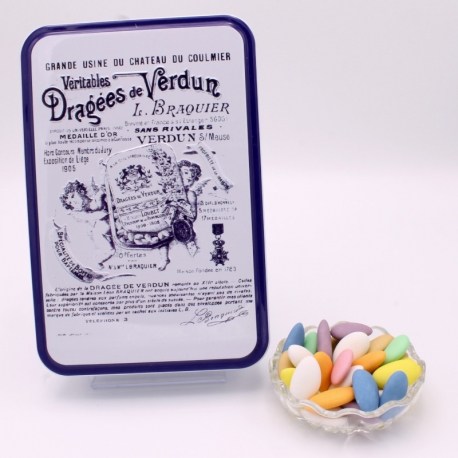 "Princesse, ""Braquier Certified"" metal-box 400 g - Dragées Braquier, confiseur chocolatier à Verdun"