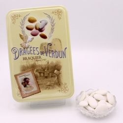 """Impériale, Boîte métal """"Amour et Gourmandises"""" 400 g - Dragées Braquier, confiseur chocolatier à Verdun"""
