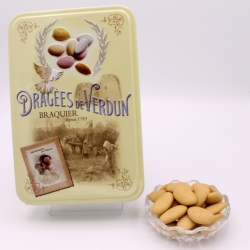 "Torrified Léon Braquier, ""Love and Sweets"" metal-box 400 g - Dragées Braquier, confiseur chocolatier à Verdun"