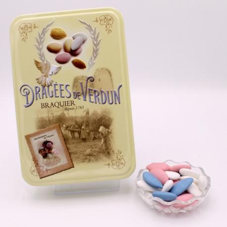 """Léon Braquier, """"Love and Sweets"""" metal-box 400 g - Dragées Braquier, confiseur chocolatier à Verdun"""