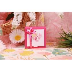 Bébé hochet rose Nina GM - Boîtes à dragées - Dragées Braquier