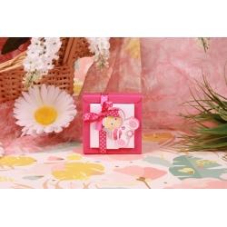 Bébé hochet rose Nina PM - Boîtes à dragées - Dragées Braquier