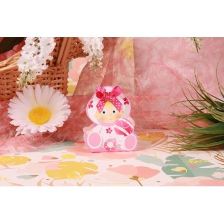 Bébé hochet rose - Boîtes à dragées - Dragées Braquier